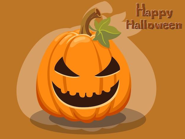 Vector de dibujos animados de calabaza halloween sobre fondo.ilustración de vector.