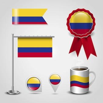 Vector de diseño de bandera de colombia