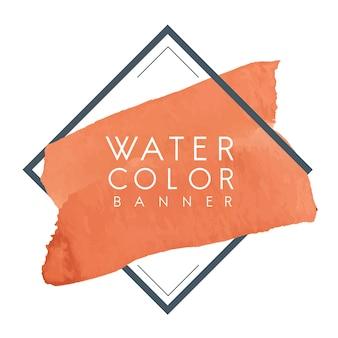 Vector de diseño de banner acuarela naranja
