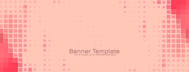Vector de diseño de banner de mosaico moderno abstracto