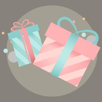 Vector de diseño de caja de regalo colorido