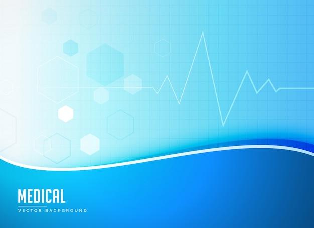 Vector de diseño de cartel azul concepto de fondo médico