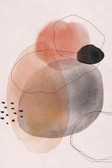 Vector de diseño de círculos de acuarela abstracta colorida