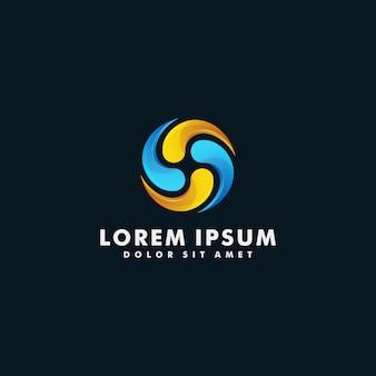 Vector de diseño colorido abstracto de logotipo de círculo