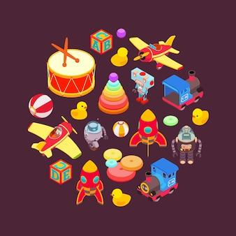 Vector de diseño de decoración de juguetes