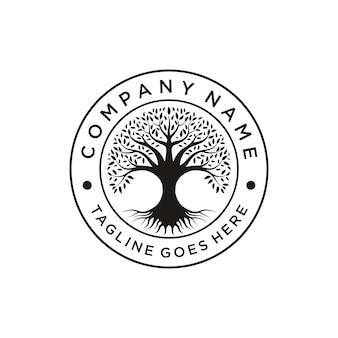 Vector de diseño de emblema de family tree of life logo