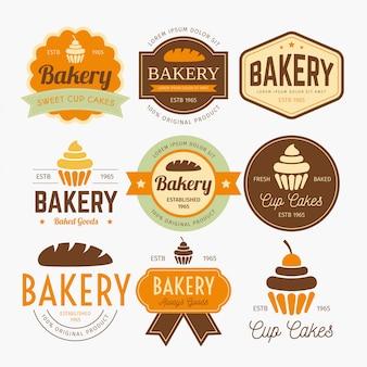 Vector de diseño de etiquetas de panadería