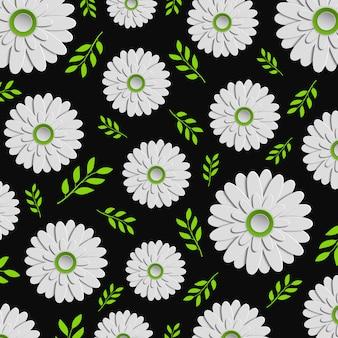 Vector diseño floral colorido