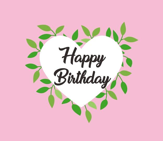 Vector diseño floral feliz cumpleaños tarjeta
