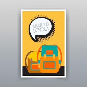 Vector de diseño de folleto de venta de verano de regreso a la escuela