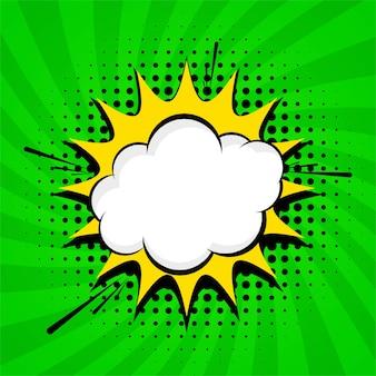 Vector de diseño de fondo cómico verde abstracto