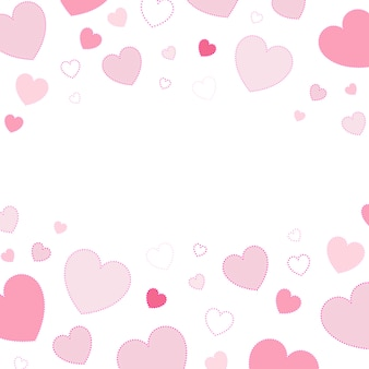 Vector de diseño de fondo de corazones rosa