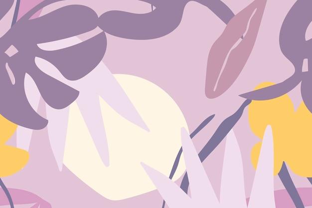 Vector de diseño de fondo estético púrpura de patrones sin fisuras