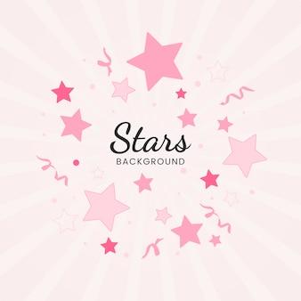 Vector de diseño de fondo de estrellas festivas