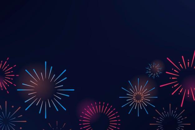Vector de diseño de fondo de explosiones de fuegos artificiales