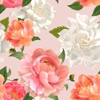 Vector de diseño de fondo floral hermoso