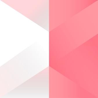 Vector de diseño de fondo geométrico rosa