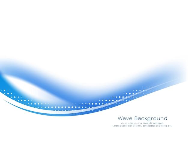 Vector de diseño de fondo de onda azul con estilo abstracto