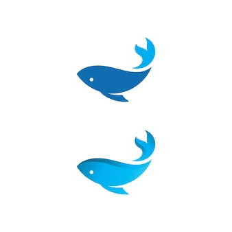 Vector de diseño de icono de logo de pescado