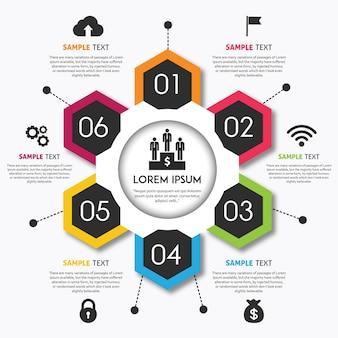 Vector diseño de infografías coloridas