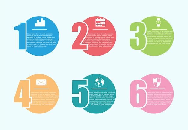 El vector de diseño infográfico se puede utilizar para marketing, diseño de flujo de trabajo, informes y diseño web