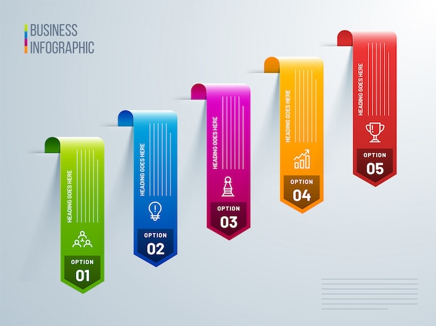 Vector de diseño infográfico