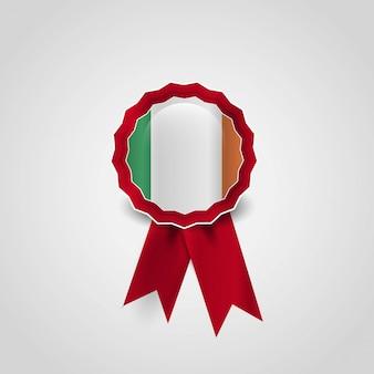 Vector de diseño de insignia de bandera de irlanda