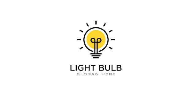 Vector de diseño de logo de bombilla