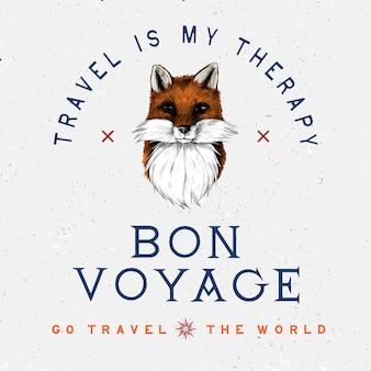 Vector de diseño de logo de bon voyage