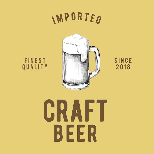 Vector de diseño de logo de cerveza artesanal