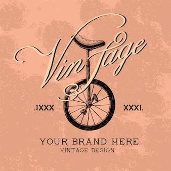 Vector de diseño de logo de marca vintage