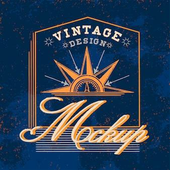 Vector de diseño de logo vintage maqueta