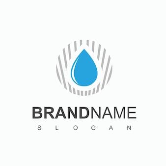 Vector de diseño de logotipo de agua