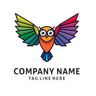 Vector de diseño de logotipo búho