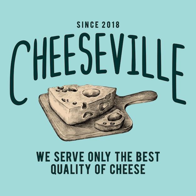 Vector de diseño de logotipo cheeseville tienda