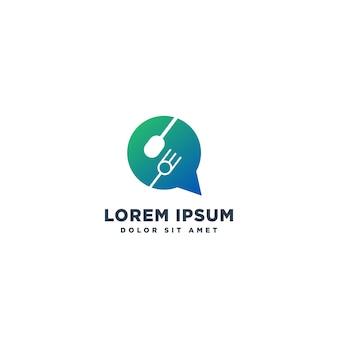 Vector de diseño de logotipo de chef de comida