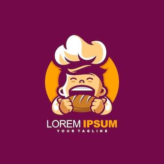 Vector de diseño de logotipo de chef impresionante