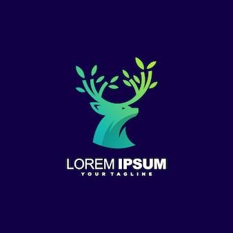 Vector de diseño de logotipo de ciervos impresionante
