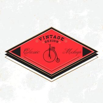 Vector de diseño de logotipo clásico maqueta