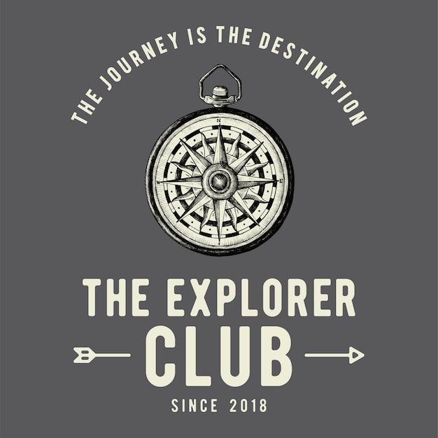 El vector de diseño de logotipo club de explorador