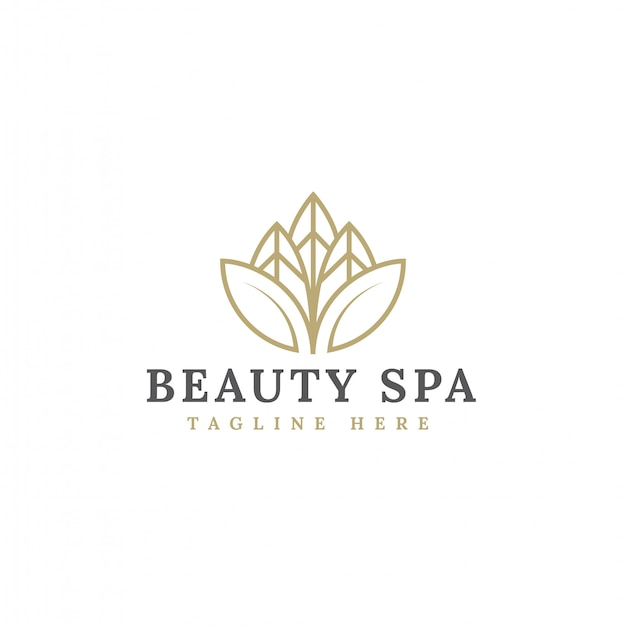 Vector de diseño de logotipo de flor de belleza minimalista