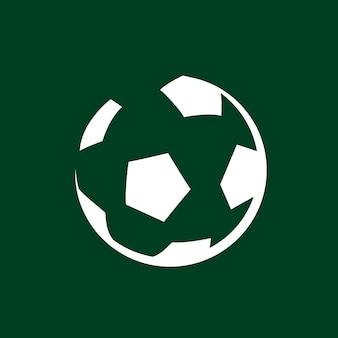 Vector de diseño de logotipo de fútbol, gráfico plano