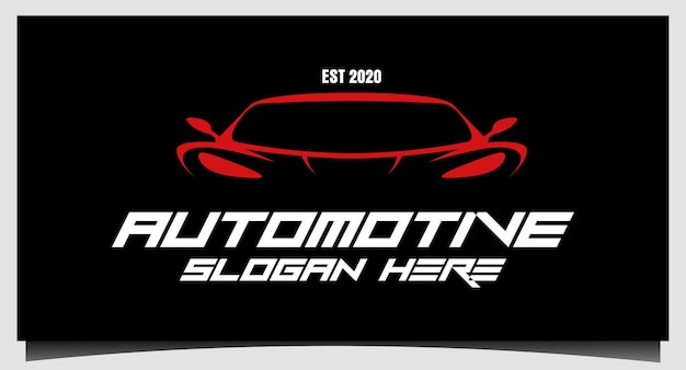 Vector de diseño de logotipo futurista moderno automotriz de coche