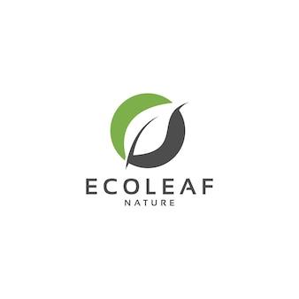 Vector de diseño de logotipo de hojas de hoja
