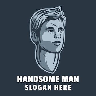 Vector de diseño de logotipo de hombre guapo
