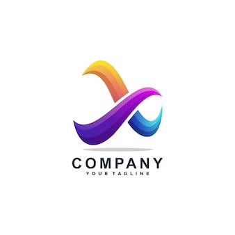 Vector de diseño de logotipo letra x