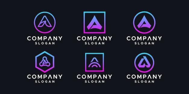 Vector de diseño de logotipo letra a