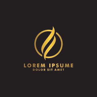 Vector de diseño de logotipo de línea abstracta