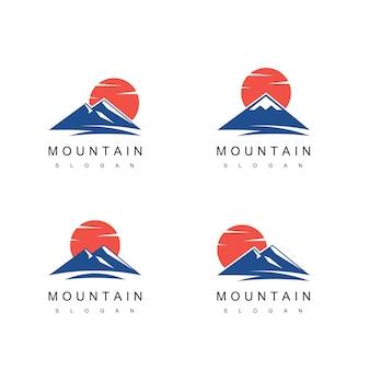 Vector de diseño de logotipo de montaña