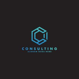 Vector de diseño de logotipo premium letra c